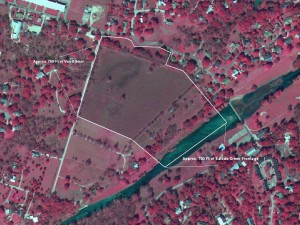 Aerial of 27 acre lot