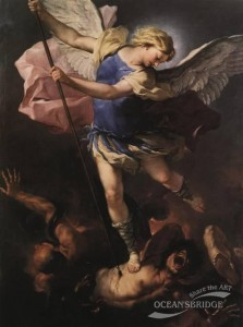 Luca Giordano painting of 1663 of St. Michael(St._Michael_the_Archangel)