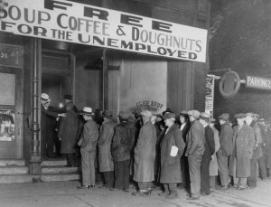 Bread lines for Wall Street?
