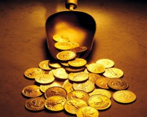 gold coins 300x240 Federal Reserve Act was passed on December 23 1913..