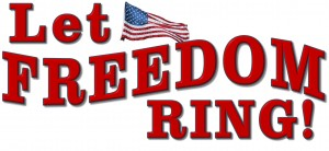 Banner-Let freedom ring