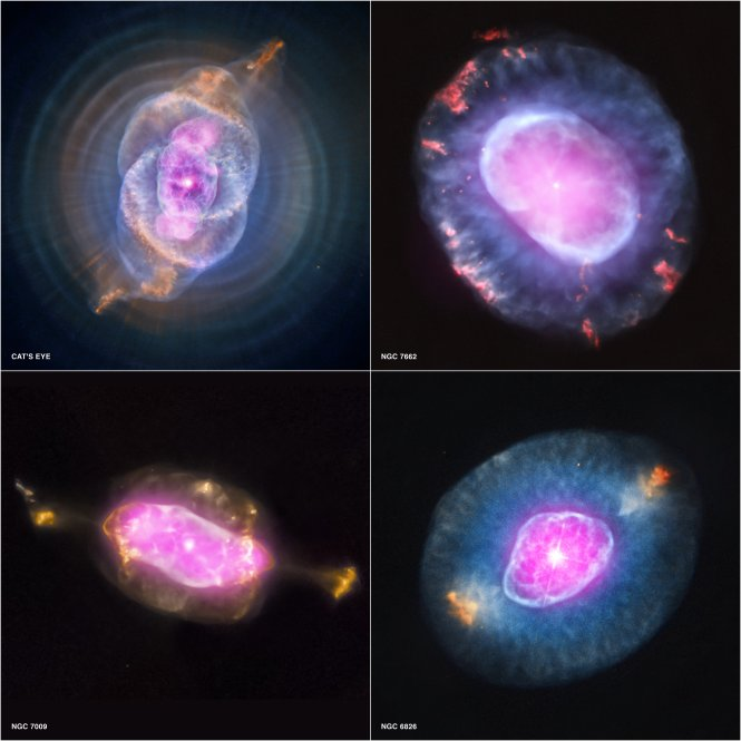 Four Planetary Nebulas Captured From Chandra X-ray Observatory