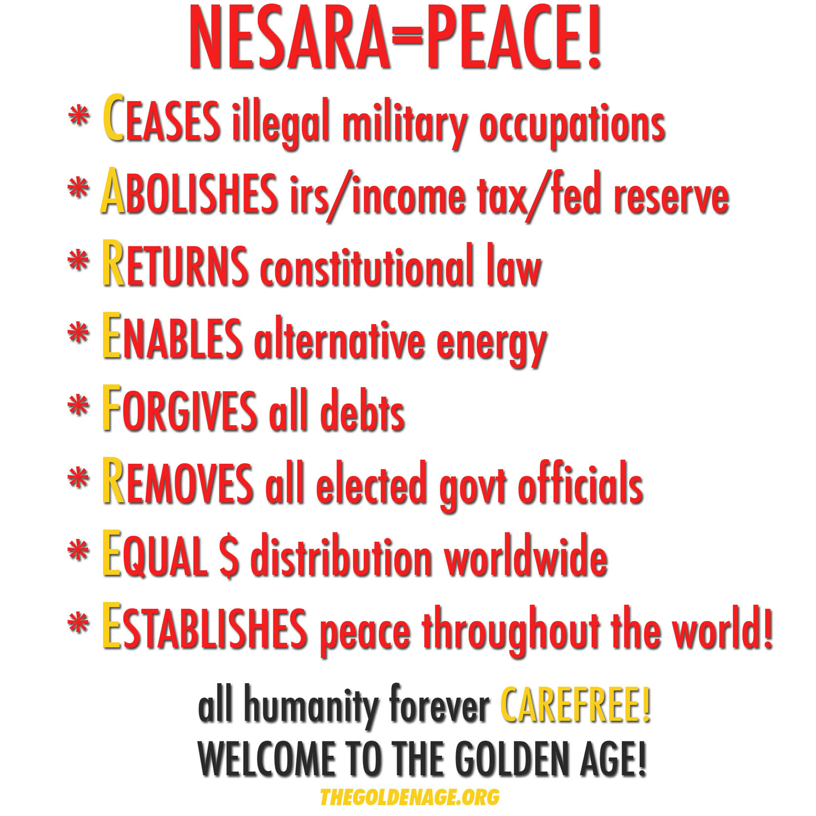 Some background re the delay for the announcement and enactment of the NESARA law here: