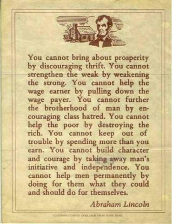 An Awesome Quote From Abraham Lincoln