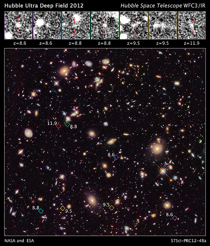 Unseen Population of Seven Faraway Galaxies Revealed