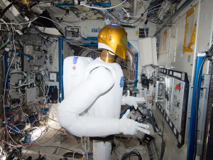 The first humanoid robot in space
