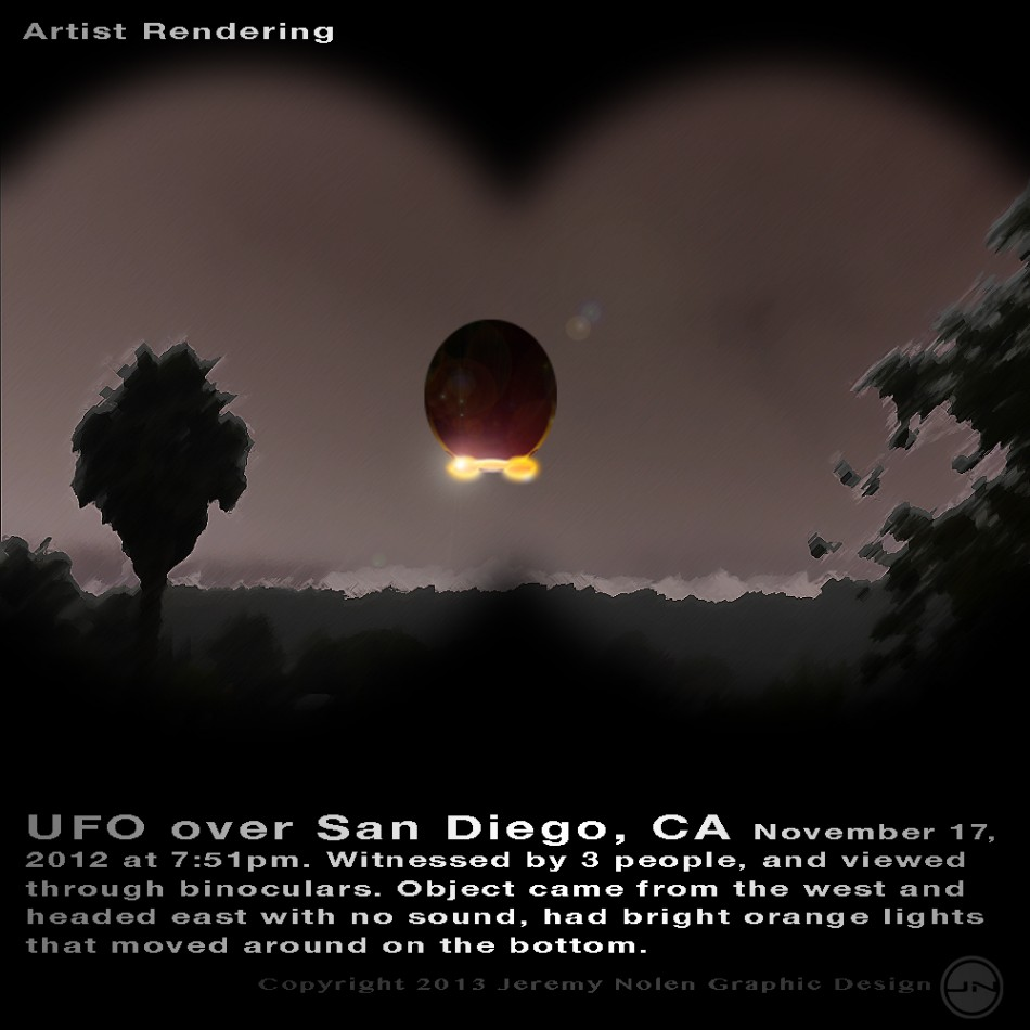 Hey Californians!  Check This Out!  An Egg Shaped UFO Spotted Over Calif, Molten Fire Dripping From Craft