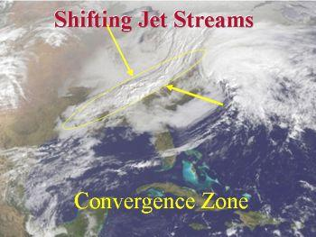 Shifting Jet Stream Causing Conversion of Weather Pattern