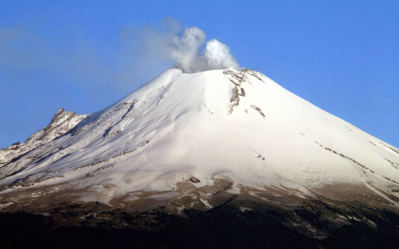 Cool Footage of UFO's Entering Volcano Popocatepetl