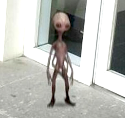 Alien Caught In Photo Of Government Employee At Government Center Building