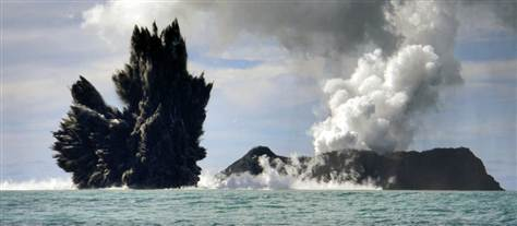 Amazing Photos Undersea Eruption Created a Tonga Island ~Inner Earth Inner Sun~