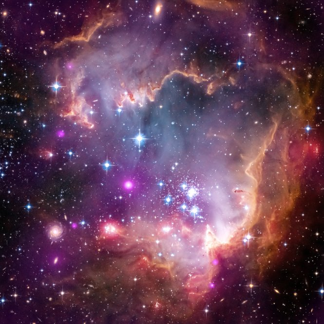 NASA's Stars in NGC 602a – GORGEOUS!
