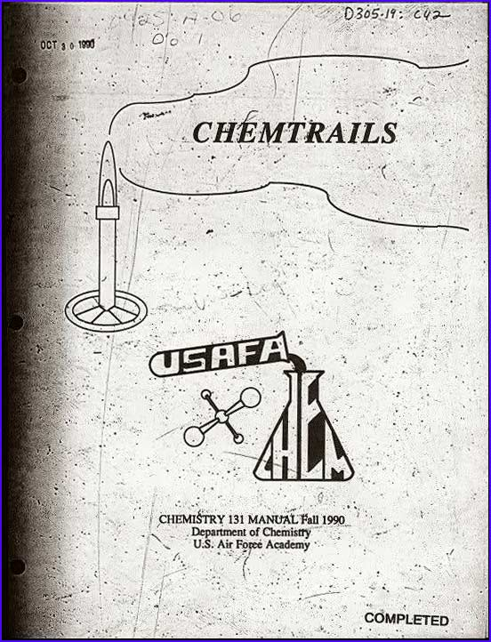 Air Force Chemtrails Manual Available For Download