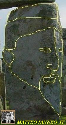 Another Depiction of The Face on Stonehenge Rocks