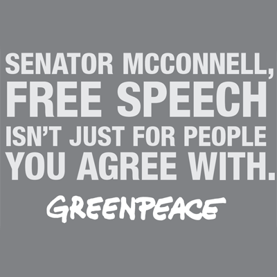 Greenpeace Calls Out Mitch McConnell's IRS Hypocrisy With Full Page Ad in Lexington Herald-Leader
