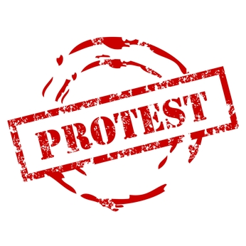 PROTESTS AROUND THE WORLD…