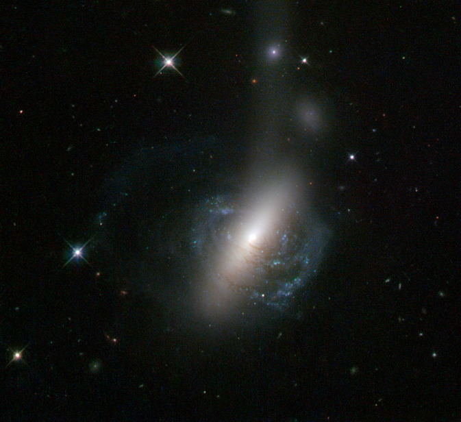 Hubble Sees the Messy Result of a Galactic Collision