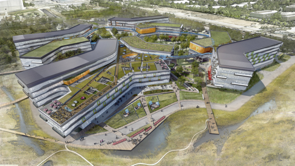 Google Shares Details of Futuristic New Office Park at NASA