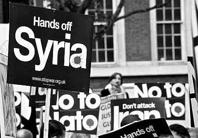 Protest to Stop Western Intervention in Syria