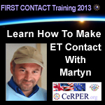Audio Clip of Martyn Ellis and Alexandra Meadors re: ET Contact