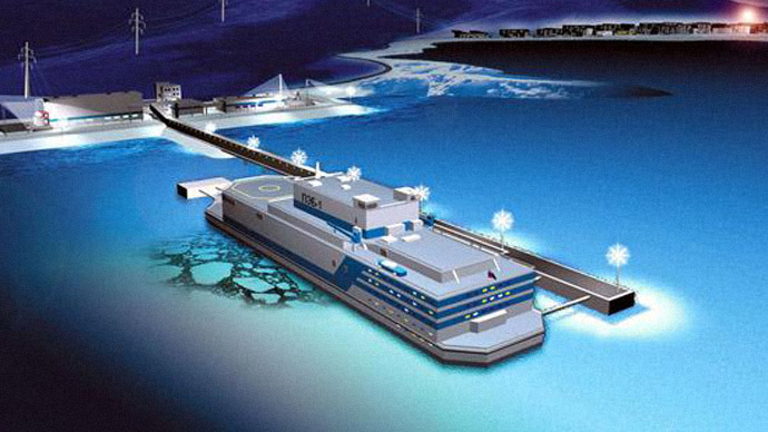 World's first floating nuclear power plant to begin operating in Russia in 2016