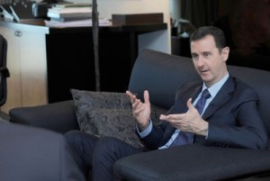 Charlie Rose with Bashar al-Assad