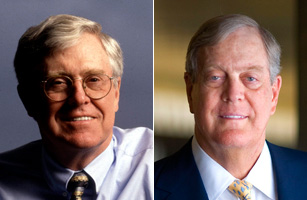 Koch brothers net worth soars past 100 billion galactic for Charles und david koch