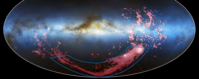 40 Year Old Mystery: Milky Way Wrapped In Magellanic Stream A Bright Pink Ribbon Of Gas