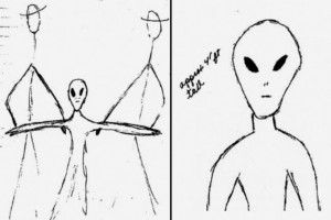 alien drawing - Missouri-April-1941-Reverend-William-Huffman-prayed-over-alien-crash-victims-outside-of-Cape-Girardeau01
