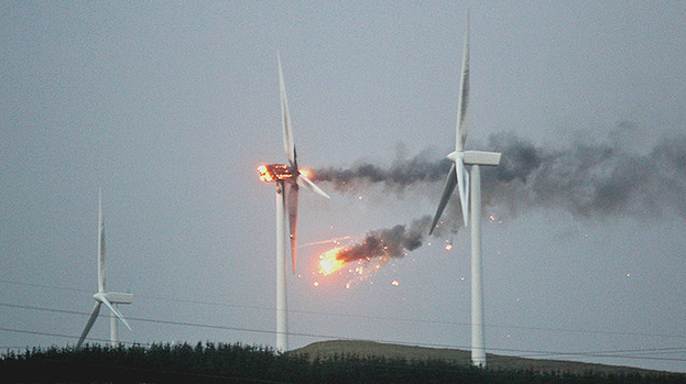 UFO Destroys Wind Turbine: Still A Mystery