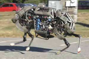 Boston Dynamics' 4-Legged Robot, WildCat, Gallops at 15 mph Outside