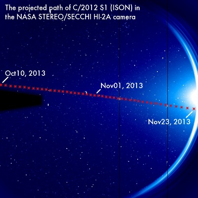 Comet ISON Will Pass By Earth On New Year's Eve : NASA STEREO