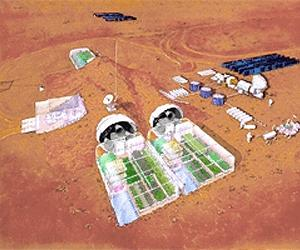 Martian settlement site to be printed on a printer