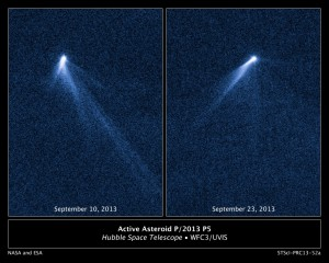 NASA's Hubble Sees Asteroid Spouting Six Comet-Like Tails