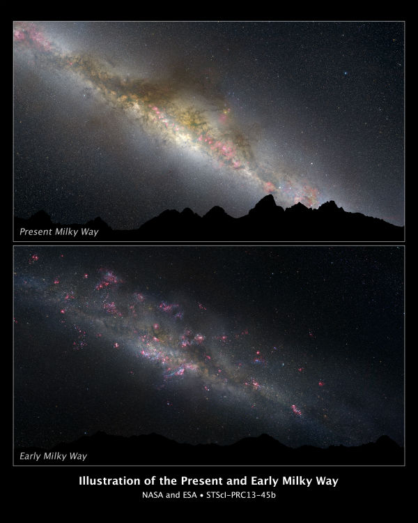 Hubble Reveals First Pictures of Milky Way's Formative Years
