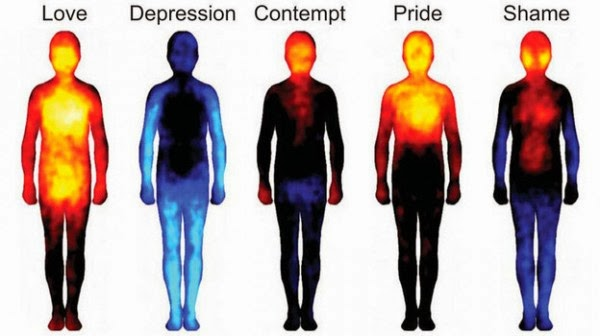 Colourful Map of the body and it's emotional responses