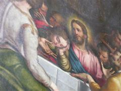 CREMONA – THE CATHEDRAL A WOMAN IN THE LAST SUPPER
