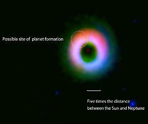 ALMA Discovers a Formation Site of a Giant Planetary System