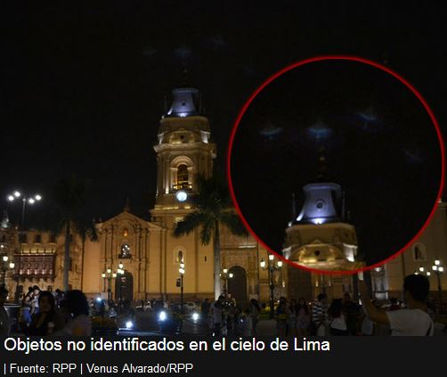 """Light Ships"" Visible over Lima, Peru, Today… (that's 1-19-14)"