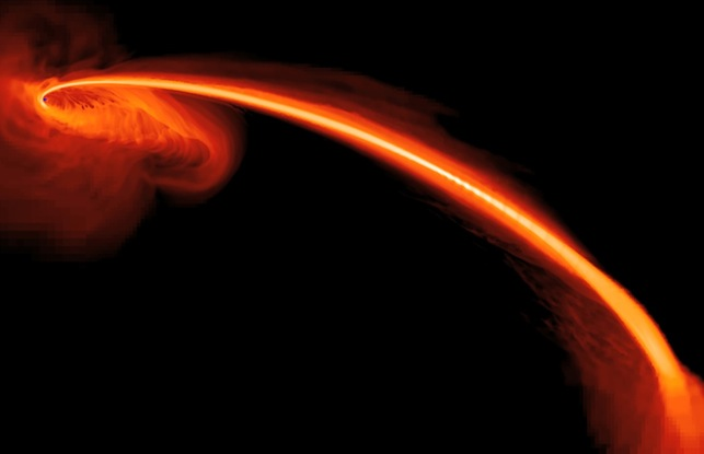 Cosmic slurp: Where a black hole swallows a star