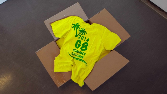 G7 Unable To Get Deposit Back On Shipment Of 'G8 Summer Getaway' T-Shirts (SATIRE)