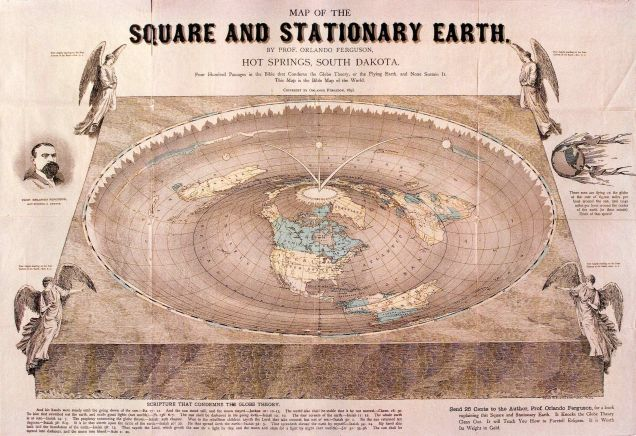 "Man Realizes He Owns The Last Immensely Stupid ""Square Earth"" Map In Existence"