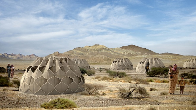 These Beautiful Woven Refugee Tents Harness Power From The Sun
