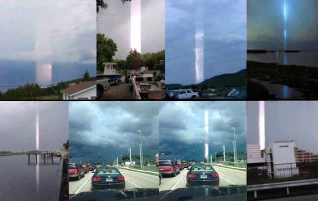 Strange Beams of Lights are seen all around the World!