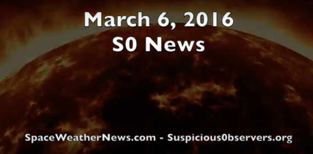 Magnetic Storm Watch, W.Coast Warning | S0 News Mar.6.2016