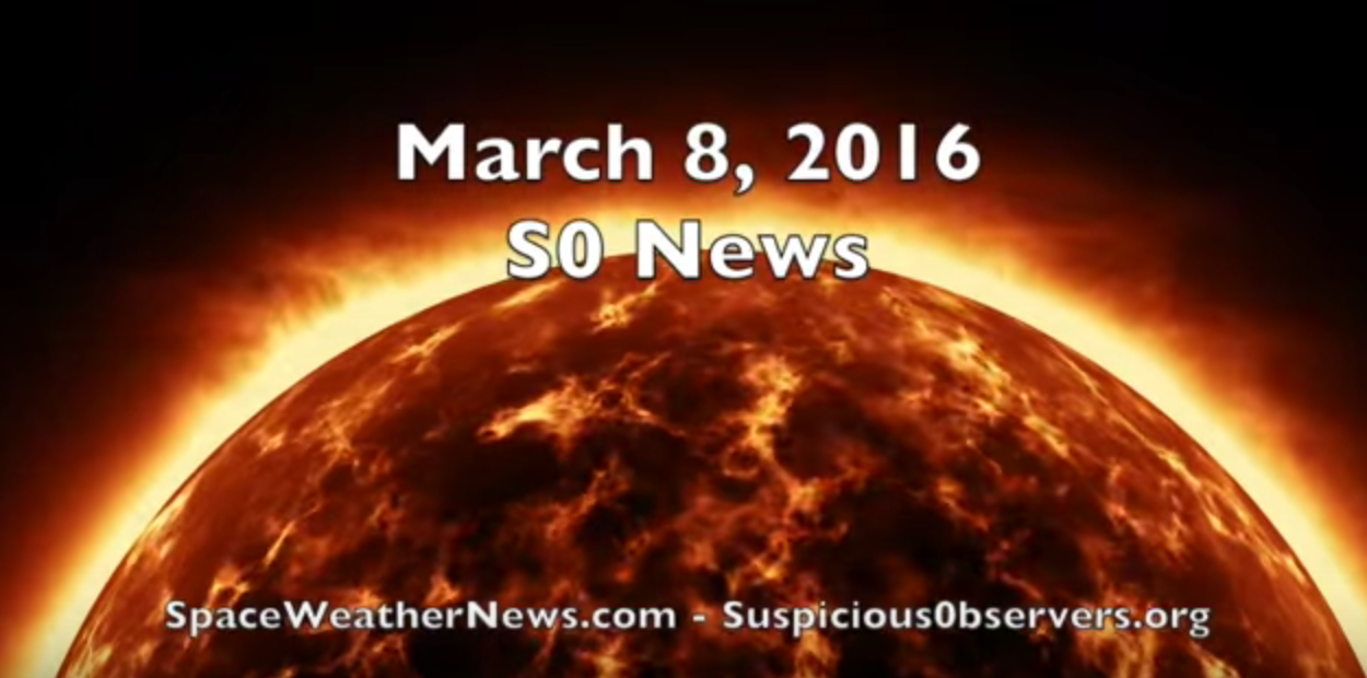 Space Weather, CERES, Storm Alert | S0 News Mar.8.2016 [VIDEO]