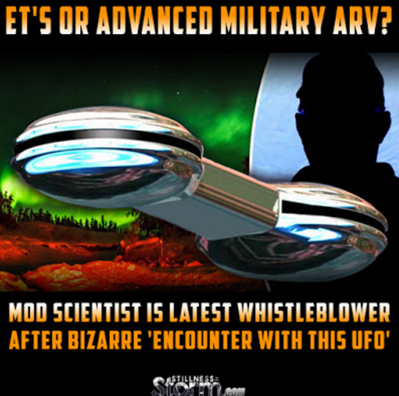 ET's or Advanced Military ARV? | MoD Scientist Is Latest Whistleblower After Bizarre 'Encounter With THIS UFO'