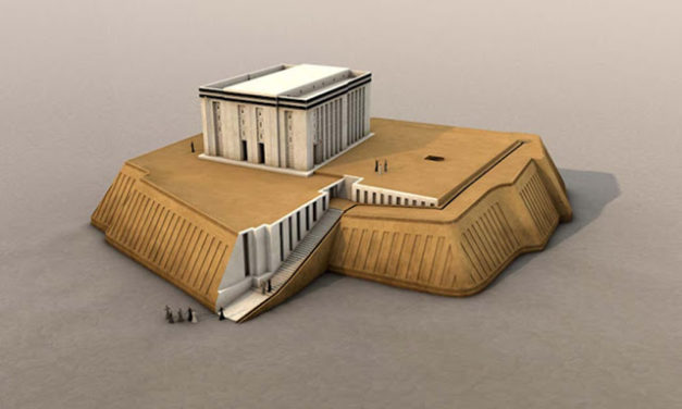 The White Temple and the Great Ziggurat in the Mesopotamian City of Uruk