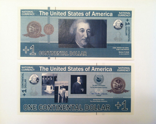 New Currency for The United States Republic – Backed by Gold – Ready for distribution