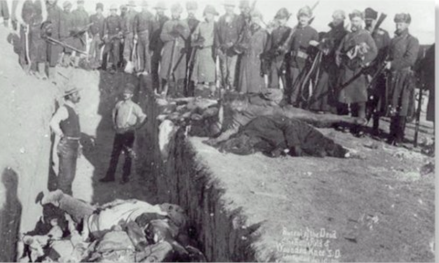 Remembering the US Government's act of genocide against Native Americans at Wounded Knee